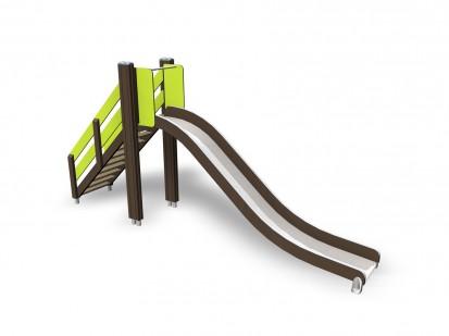 SLIDE - Tobogan pentru copii 137019M NEW FINNO Echipamente de joaca din lemn pentru copii