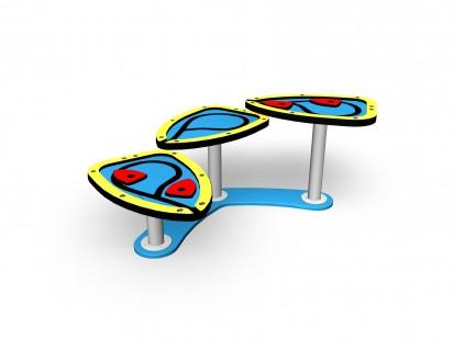 Echipament de joaca pentru copii sub 4 ani ELLA 104333M FINNO ABC Echipamente de joaca din