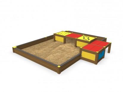 Echipament de joaca pentru copii sub 4 ani LINNEA 104515M FINNO ABC Echipamente de joaca din