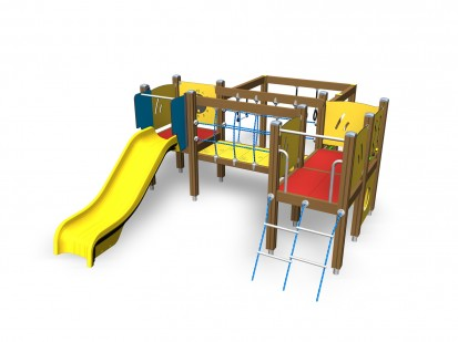 Echipament de joaca pentru copii sub 4 ani LUCAS 104325M FINNO ABC Echipamente de joaca din