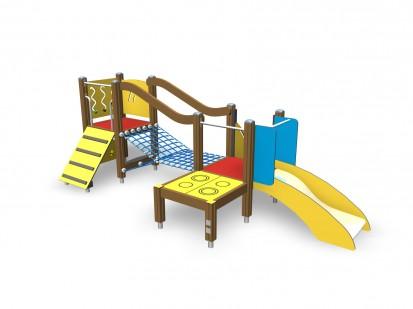 Echipament de joaca pentru copii sub 4 ani TINO 104315M FINNO ABC Echipamente de joaca din