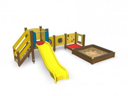 Echipament de joaca pentru copii sub 4 ani LISA 104510M FINNO ABC Echipamente de joaca din