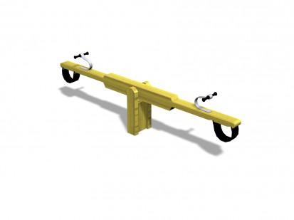 Balansoar din lemn, 2 locuri 175070 CLOVER Echipamente de joaca pentru copii