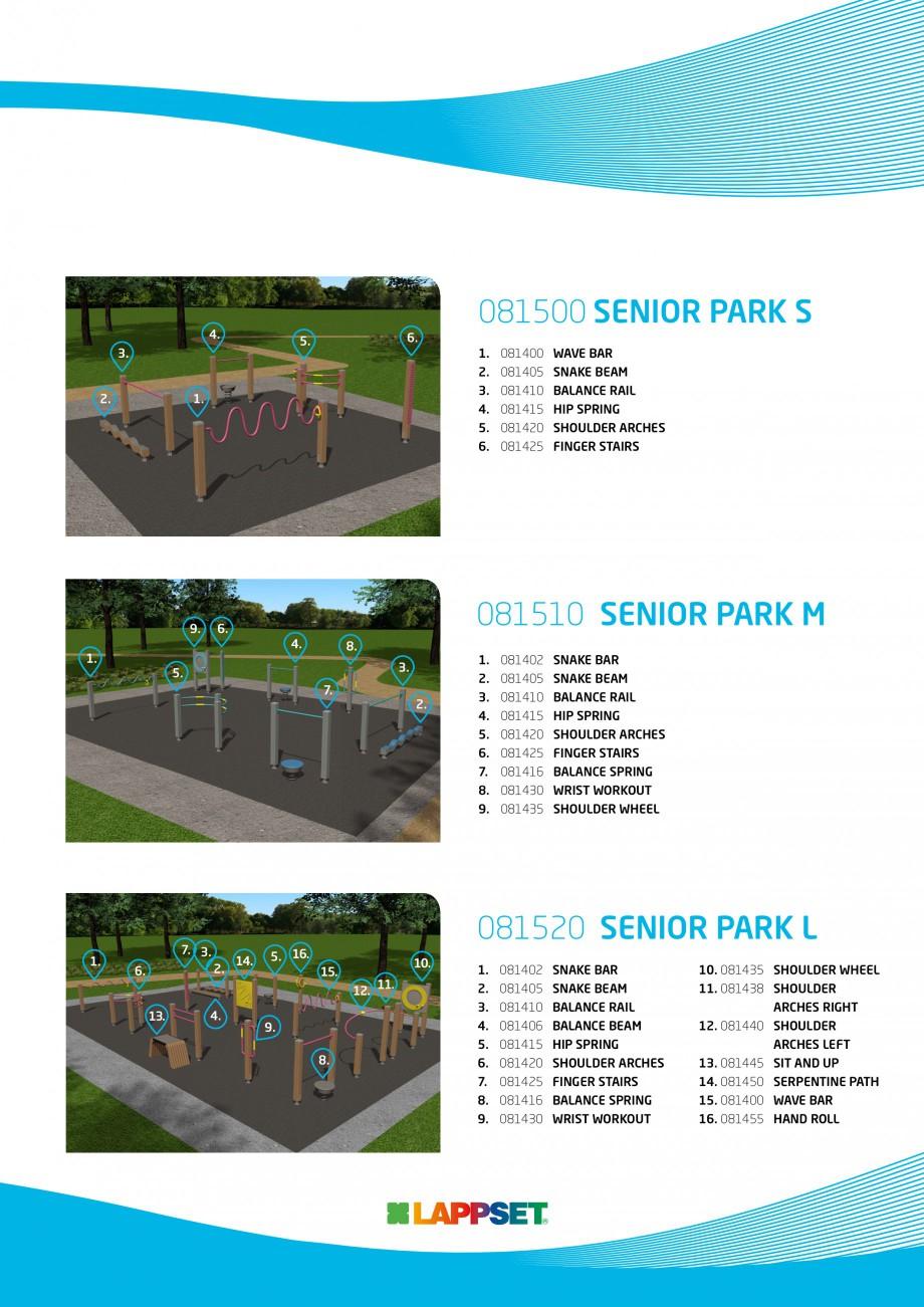 Pagina 3 - Senior sport - Activi la varste inaintate LAPPSET Fisa tehnica Engleza R PARK M  6. 4.  1...