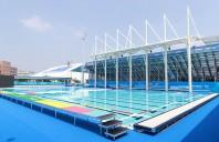 Bazine de inot prefabricate din panouri de inox laminate cu PVC de tip dur Myrtha Pools