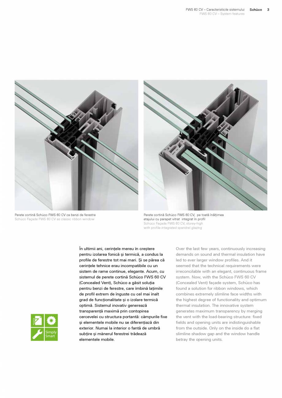 Pagina 3 - Sistem de profile din aluminiu pentru pereti cortina SCHUCO FWS 60 CV Fisa tehnica Romana...