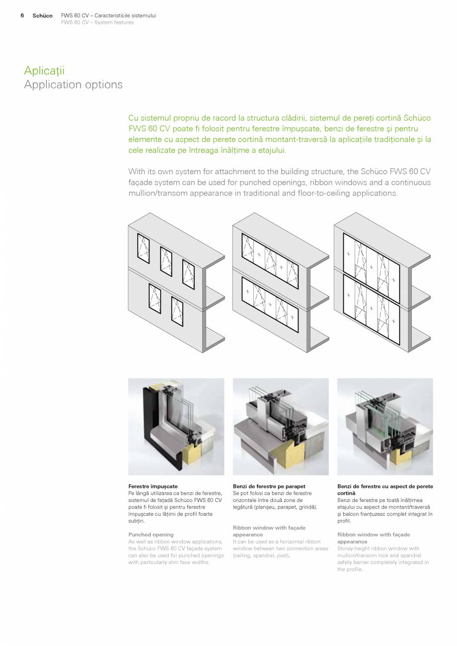 Pagina 6 - Sistem de profile din aluminiu pentru pereti cortina SCHUCO FWS 60 CV Fisa tehnica Romana...