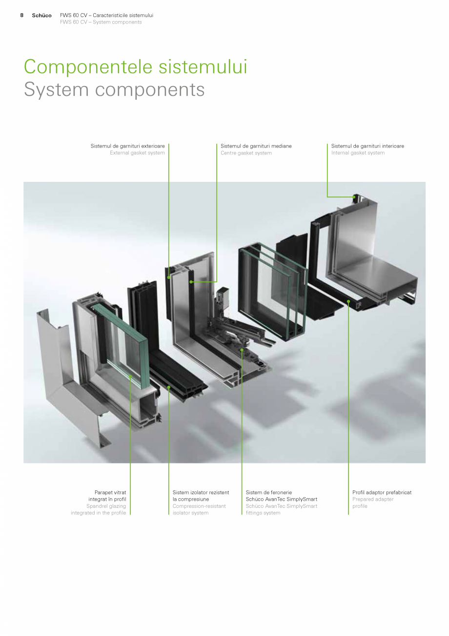 Pagina 8 - Sistem de profile din aluminiu pentru pereti cortina SCHUCO FWS 60 CV Fisa tehnica Romana...