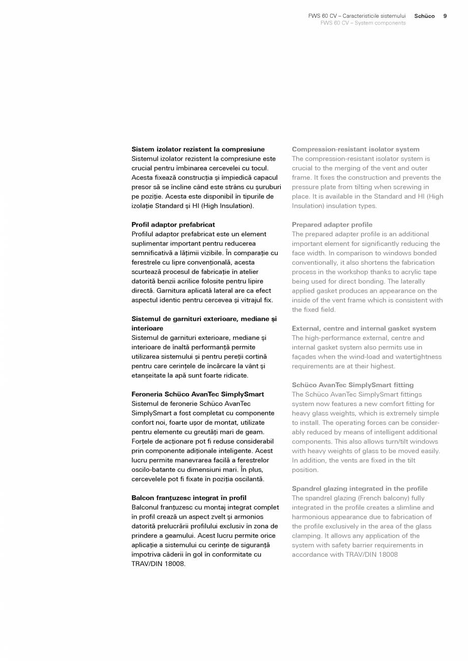 Pagina 9 - Sistem de profile din aluminiu pentru pereti cortina SCHUCO FWS 60 CV Fisa tehnica Romana...