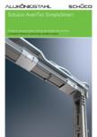 Feronerie ascunsa pentru sisteme de ferestre din aluminiu SCHUCO