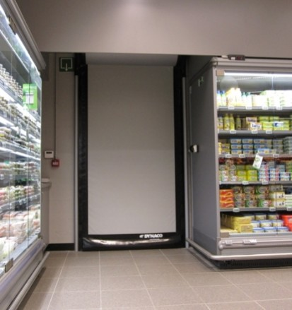 DYNACO-D-313-high-speed-roll-up-door-retail-8 D-313 Usi rapide din PVC