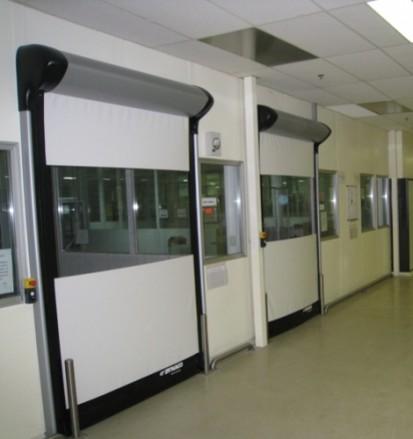 Usa rapida de interior pentru spatii curate D-313 CLEANROOM D-313 CLEANROOM Usi rapide de interior pentru