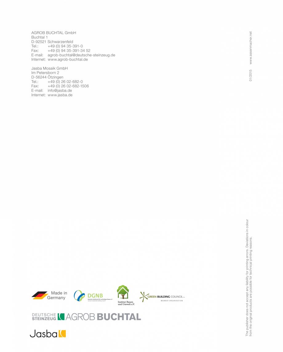 Pagina 12 - Inovatia HT pentru un mediu sanatos  AGROB BUCHTAL AGROB BUCHTAL Catalog, brosura...