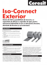 Sistem de folii cu posibilitate de tencuire - Iso-Connect Exterior CERESIT