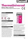 Mortar adeziv universal pentru lipirea si spacluirea placilor termoizolante de polistiren