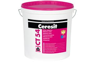 Vopsele de exterior pentru fatade noi si reabilitate Vopseaua silicata Ceresit CT 54 este o vopsea hidrofoba, permeabila la vapori sise poate folosi pentru vopsirea fatadelor si interioarelor (pereti si plafoane).Este disponibila in peste 200 de culori, rezistenta la intemperii, mata, alcalina si ofera protectie impotriva contaminarii biologice (mucegai, ciuperci, alge).Se poate aplica pe substraturi minerale: beton, tencuiala de ciment, tencuiala de var-ciment si tencuiala de var. Vopseaua adera permanent la suport, ca urmare a reactiilor chimice.Datorita caracterului ignifug si excelentei permeabilitati de vapori, Ceresit CT 54 este recomandata in cazul sistemului Ceresit Ceretherm Mineral, in care materialele de izolatie sunt placile de vata minerala.