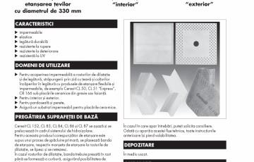 Banda de etansare pentru rosturi, colturi sau strapunderi ale zidului cu teava CERESIT