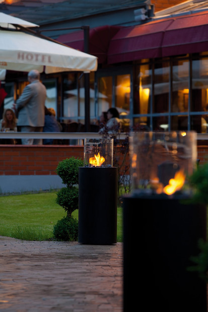Seminee pe bioetanol pentru exterior si interior / Totem Commerce, Sloneczny Mlyn Hotel, Bydgoszcz, Poland