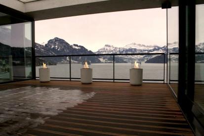 Seminee pe bioetanol pentru exterior si interior / Jar Commerce, Private Residence, mountain