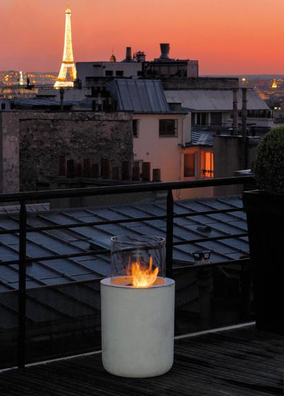 Seminee pe bioetanol pentru exterior si interior / Jar Commerce, Private Residence, Paris, France 2