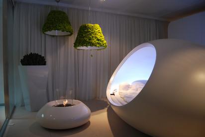 Seminee pe bioetanol pentru exterior si interior / Bubble Commerce, Planika, Design Week, Zona Tortona, Milan 2010