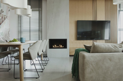 Seminee pe bioetanol / Primefire in Casing, Private Apartment, Poland, design Interno Iza Gajewska (1)