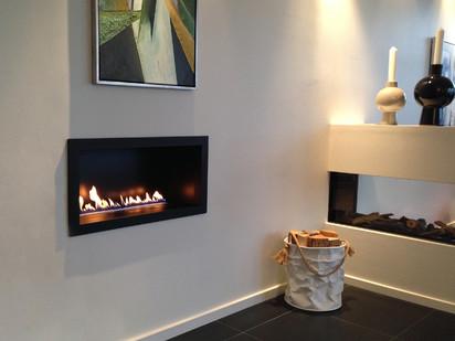 Seminee pe bioetanol / PrimeFire in Casing, showroom Living Flames, Denmark