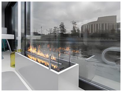 Semineu pe bioetanol cu insertii automate / FLA_Planika_Floatinghouses_Bydgoszcz_Poland_1
