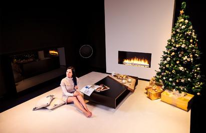 Semineu pe bioetanol cu insertii automate / FLA3, Christmas mood, fot. - Michal Kugacz_2