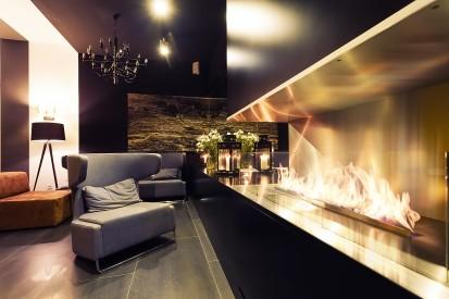Semineu pe bioetanol cu insertii automate / FLA3, Planika, Restauracja Poziom 511 Design Hotel&SPA, Podzamcze, Poland, fot. Michal Kugacz