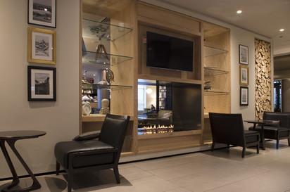 Semineu pe bioetanol cu insertii automate / FLA3, Sheraton Grand London Park Lane, Interior design by MKV Design www.mkvdesign.com, Designer Dominic Barber_2