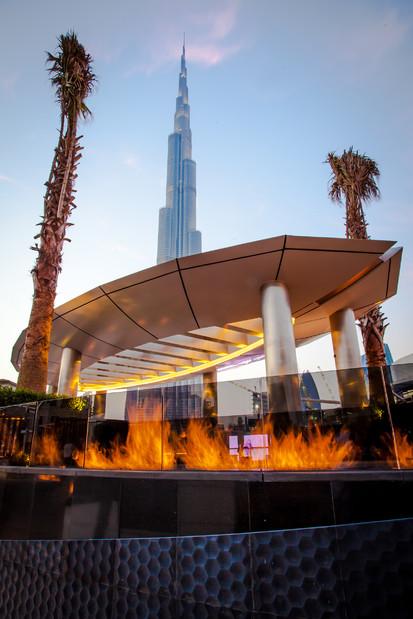 Seminee pe bioetanol pentru exterior / Fire Line Outdoor, The Address Downtown, Dubai, UAE_2