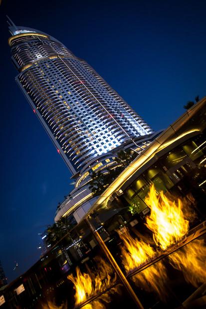 Seminee pe bioetanol pentru exterior / Fire Line Outdoor, The Address Downtown, Dubai, UAE