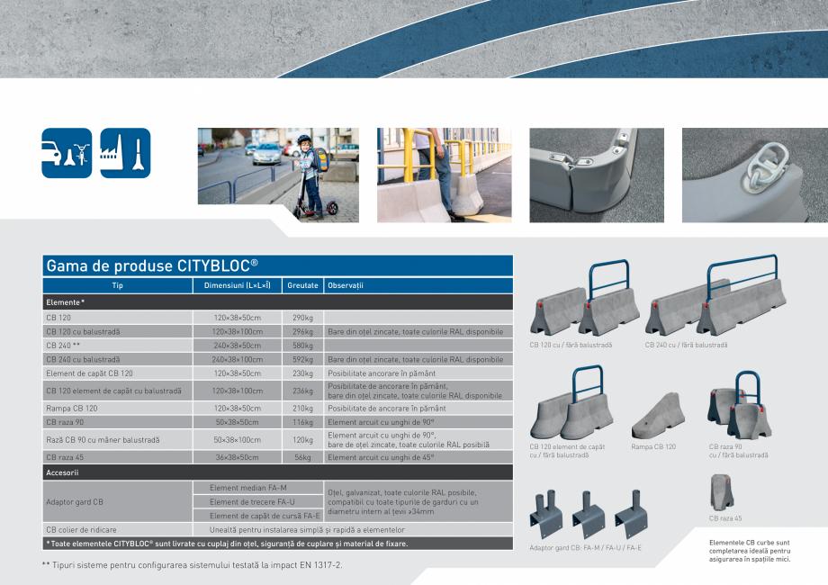 Pagina 11 - Bariere de securitate SOMACO CITYBLOC®, CITYBLOC® TMB 240 Catalog, brosura...