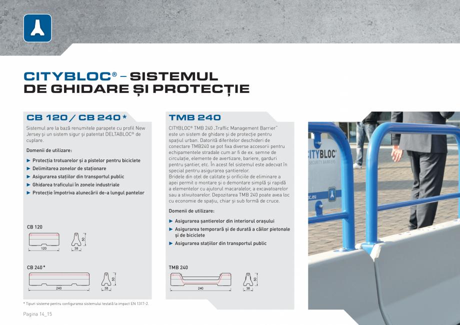 Pagina 14 - Bariere de securitate SOMACO CITYBLOC®, CITYBLOC® TMB 240 Catalog, brosura...