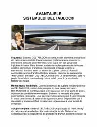 Avantajele sistemului DELTABLOC®