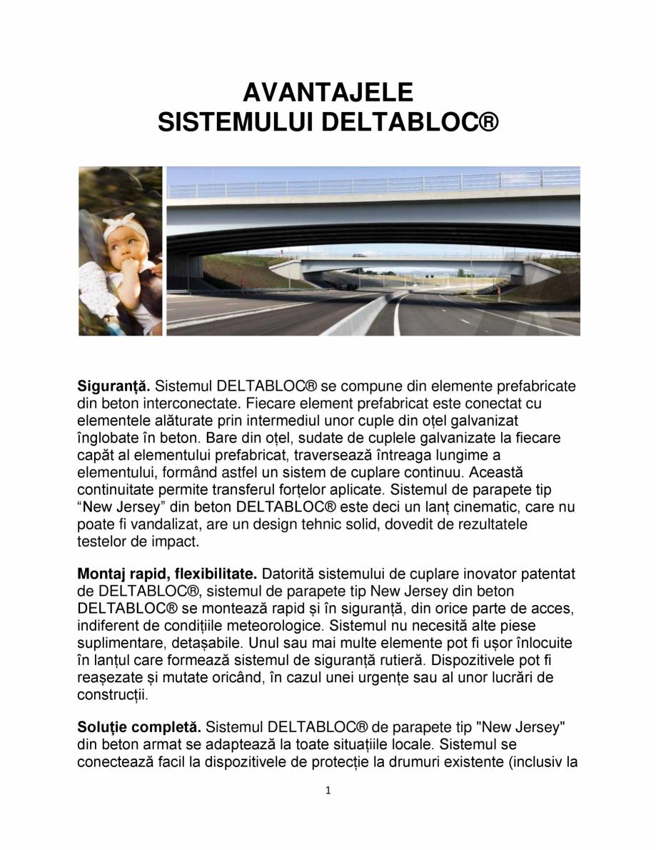 Pagina 1 - Avantajele sistemului DELTABLOC® SOMACO DB 80 & DB 100 , DB 120, DB NBF Catalog, ...