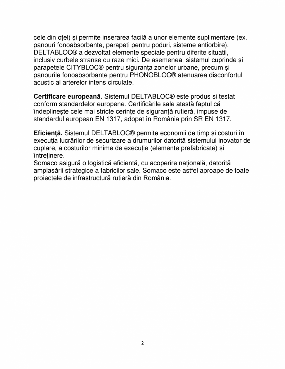 Pagina 2 - Avantajele sistemului DELTABLOC® SOMACO DB 80 & DB 100 , DB 120, DB NBF Catalog, ...