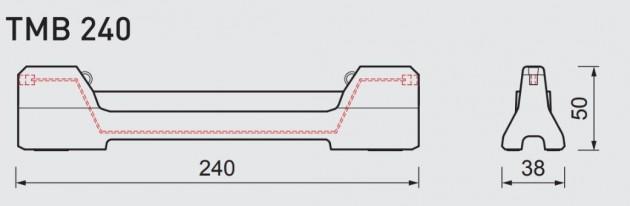 Schiță dimensiuni Bariera de securitate - CITYBLOC® TMB 240