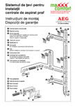 Sistem de tevi pentru instalatia centrala de aspirat praf AEG