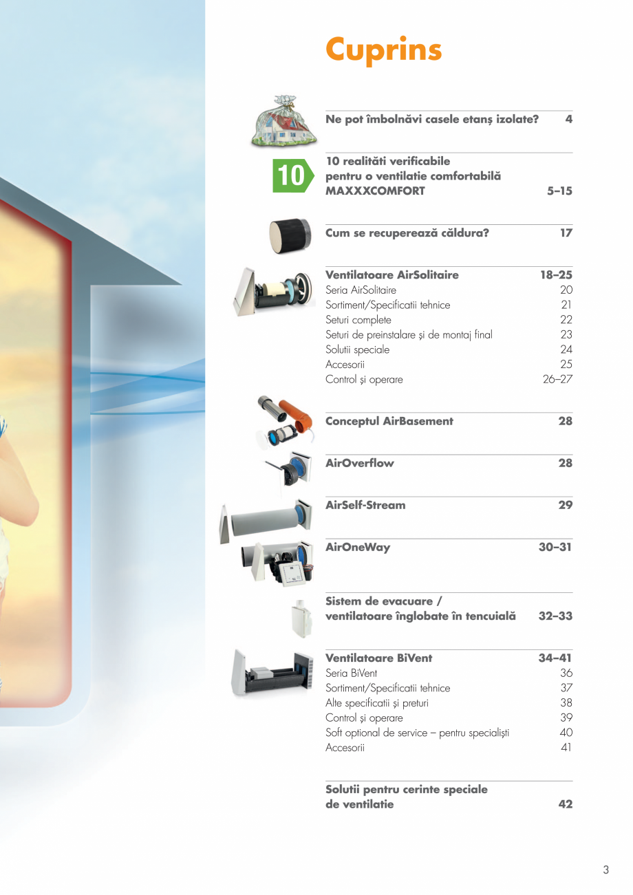 Pagina 3 - Ventilatie cu recuperarea caldurii MAXXXCOMFORT Air Solitaire, BiVent, Air...
