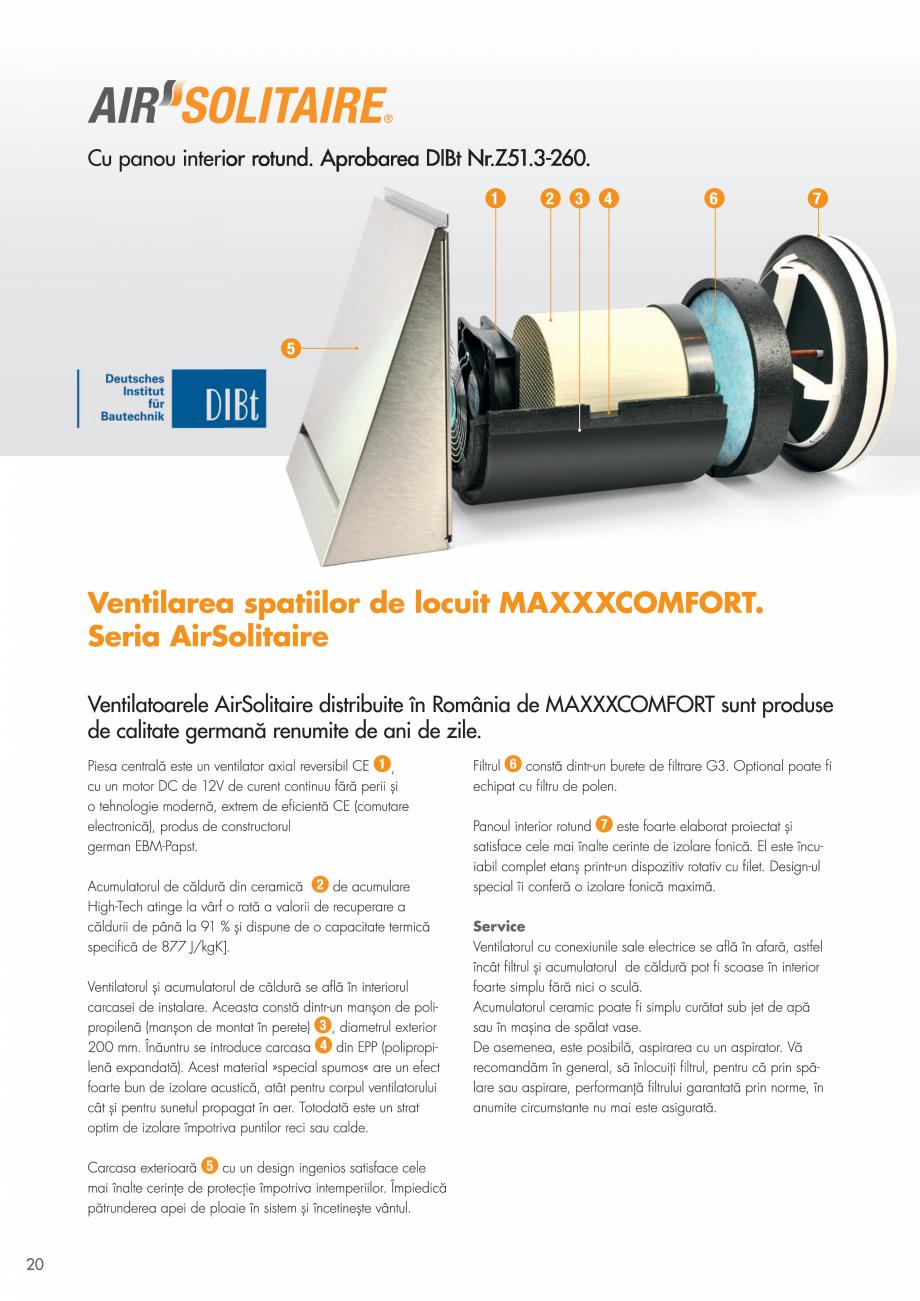 Pagina 20 - Ventilatie cu recuperarea caldurii MAXXXCOMFORT Air Solitaire, BiVent, Air...