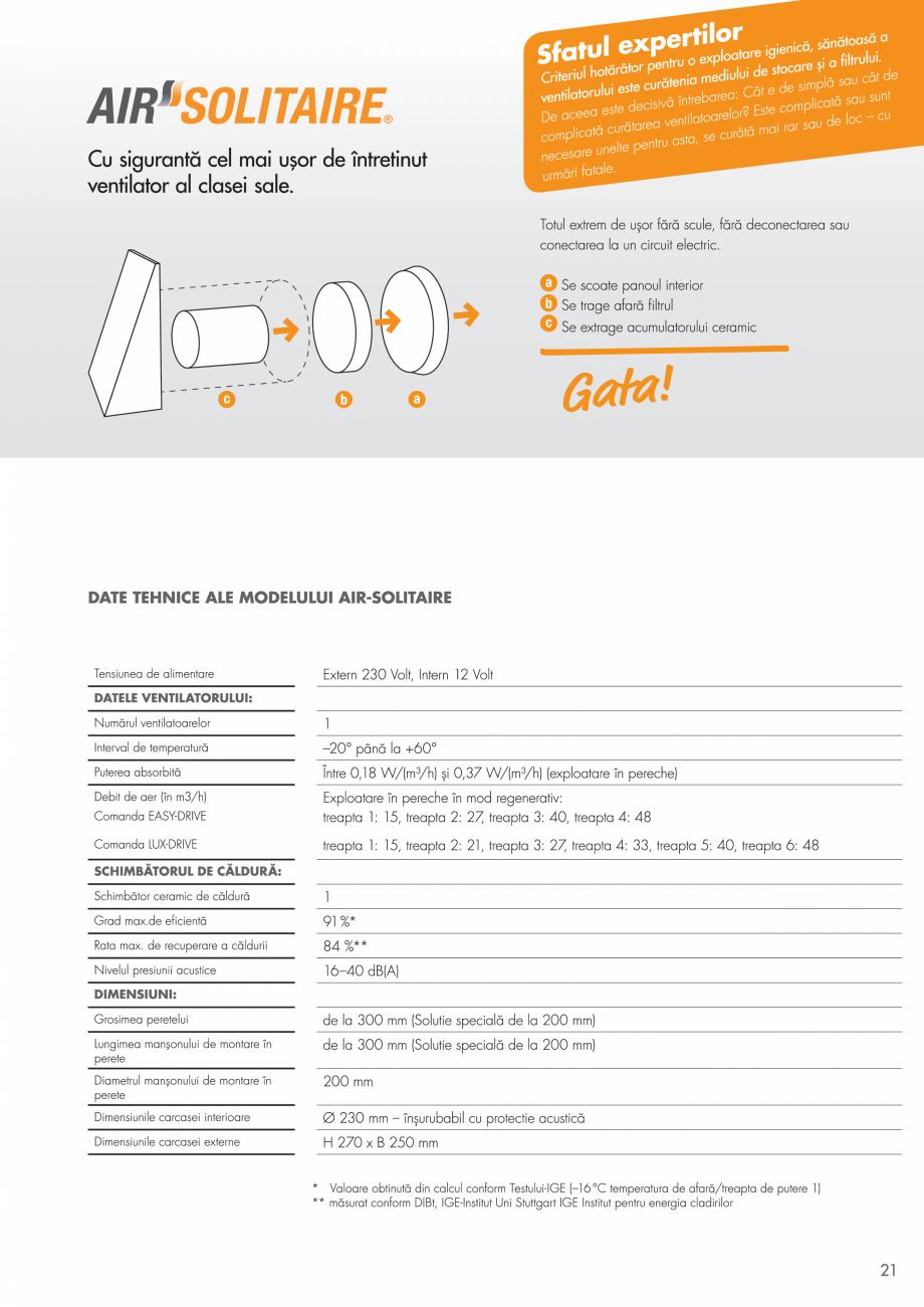 Pagina 21 - Ventilatie cu recuperarea caldurii MAXXXCOMFORT Air Solitaire, BiVent, Air...