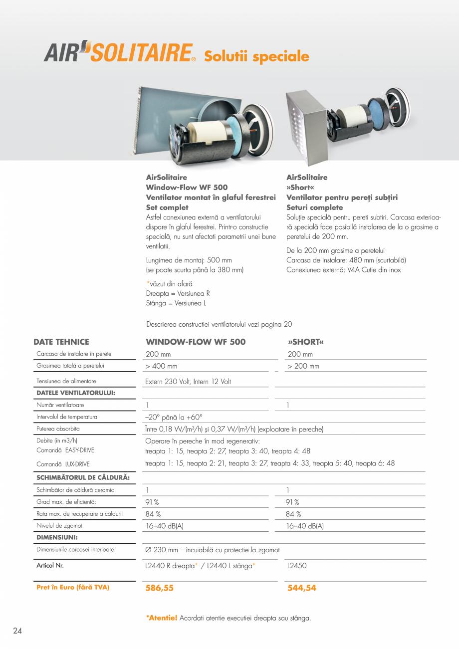 Pagina 24 - Ventilatie cu recuperarea caldurii MAXXXCOMFORT Air Solitaire, BiVent, Air...
