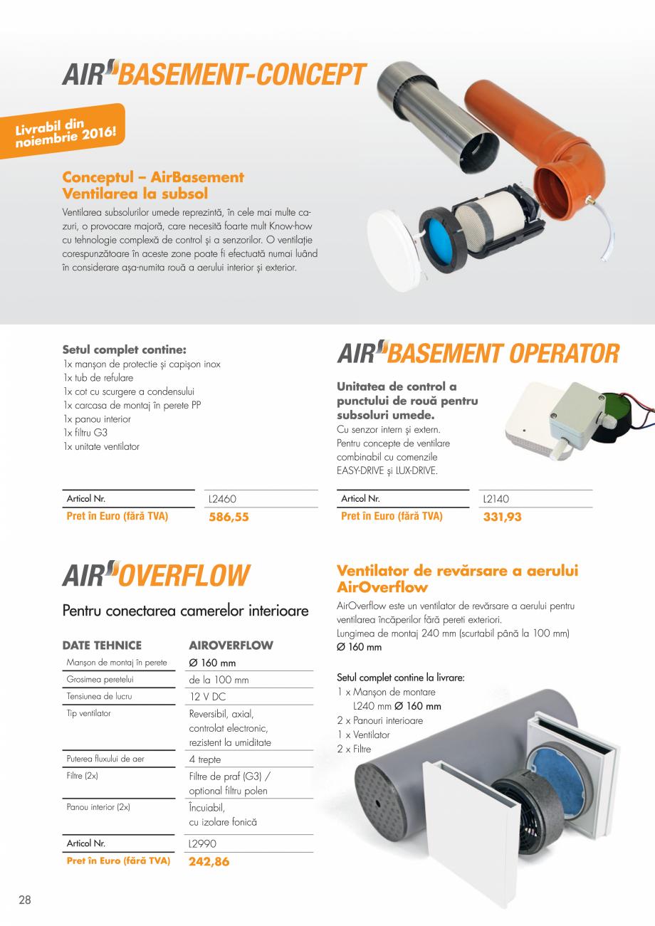 Pagina 28 - Ventilatie cu recuperarea caldurii MAXXXCOMFORT Air Solitaire, BiVent, Air...
