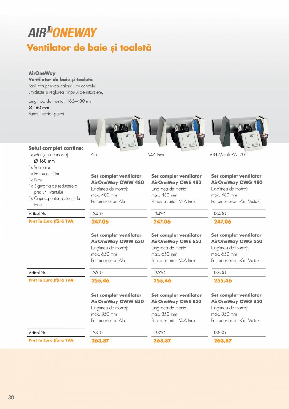 Pagina 30 - Ventilatie cu recuperarea caldurii MAXXXCOMFORT Air Solitaire, BiVent, Air...