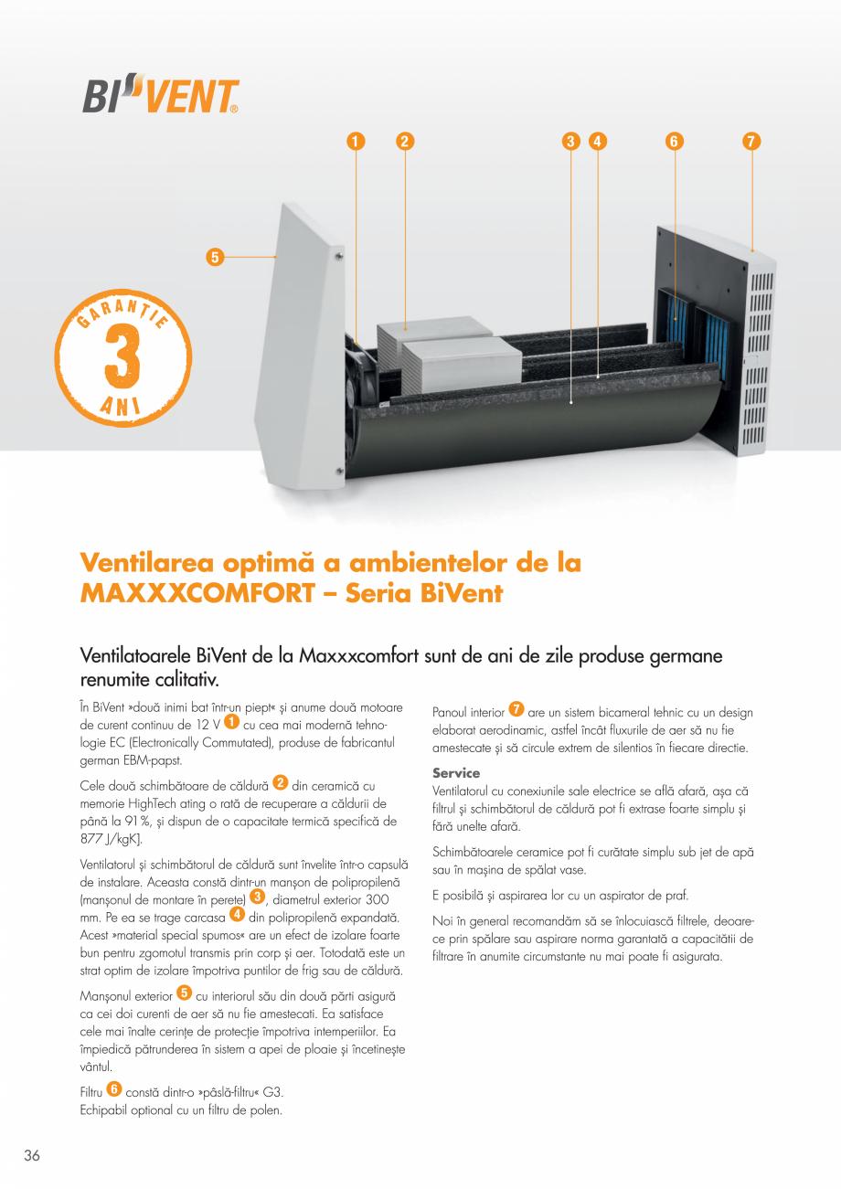 Pagina 36 - Ventilatie cu recuperarea caldurii MAXXXCOMFORT Air Solitaire, BiVent, Air...