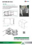 Sistem extactibil pliant pentru corpuri de colt ACCESORIA GROUP - Art 350