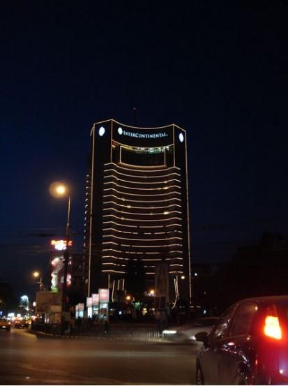 Iluminare firma luminoasa (2) Sistem de iluminare Hotel Intercontinental