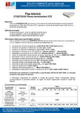 Panou termoizolant din spuma rigida de poliizocianurat (PIR) Stiferite